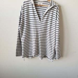 American eagle Outfitter striped v-neck sweater XL
